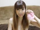 激かわななちゃん 【顔写真付◆臭い・汚れ注意】ピンクの花柄レースのパンティ