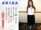 ERIKAちゃん セーラー服セットとサイン入りチェキ 合計7点