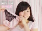 ◇谷川若菜 使用済み◇黒のレース付 薄ピンク色パンティ