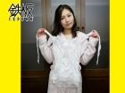 佐々木あき光沢白×白花柄レーススリーインワン&Tバックパンティ&網タイツ
