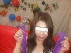 麗し美女のあちゃん私物の紫ハイソックス