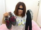 ★人妻えみちゃん☆運動用のスニーカー&黒のトレンカ&靴下