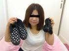 ★人妻えみちゃん☆花柄のスリッポン&ボーダー柄靴下