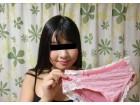 天真爛漫★ゆあちゃんのピンクと白のパンティ☆臭い汚れ注意