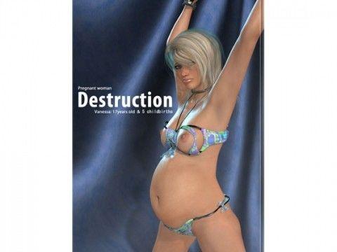 【アマゾン 同人】女子○生強制妊娠写真集「Pregnantwoman-Destruction-」