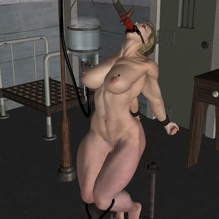 拘束される筋肉美女