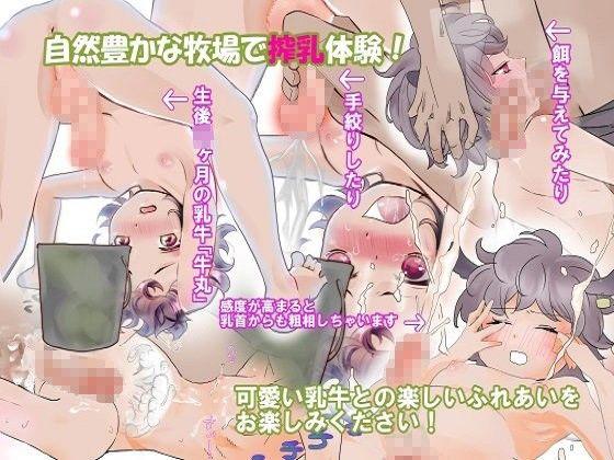 【蠱る幻想狂団 同人】ふれあい乳搾り~生後18ヶ月の乳牛♂のミルクタンクを絞りつくす!~