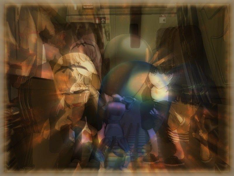 [同人]「イソイソ記念写真の急しゃがみパンチラ」(aoton)