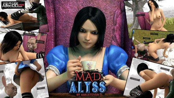 [同人]「狂女のアリス (作者AMUSTEVEN)」(Affect3D)