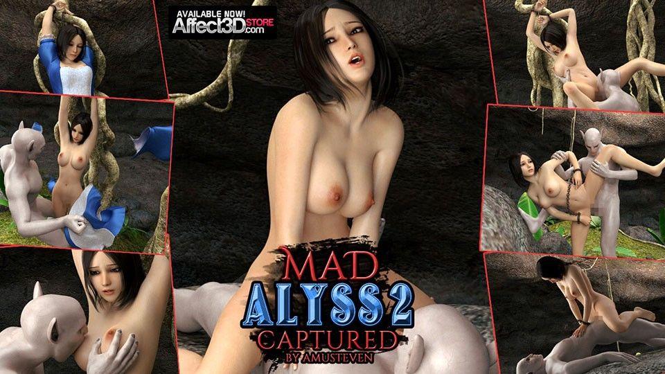 [同人]「狂女のアリス2とらわれた (作者AMUSTEVEN)」(Affect3D)