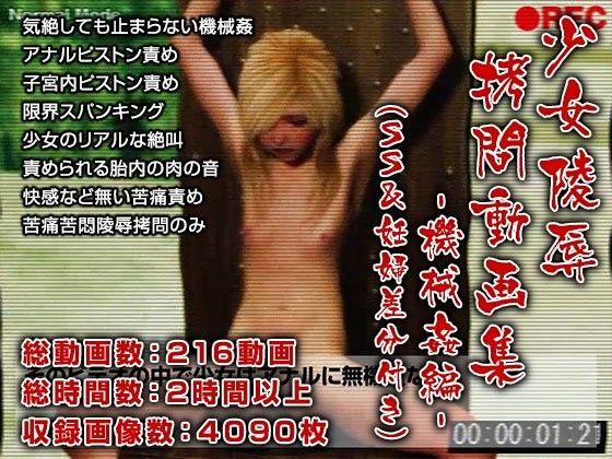 【ポザ孕 同人】少女陵辱拷問動画集-機械姦編-(SS&妊婦差分付き)