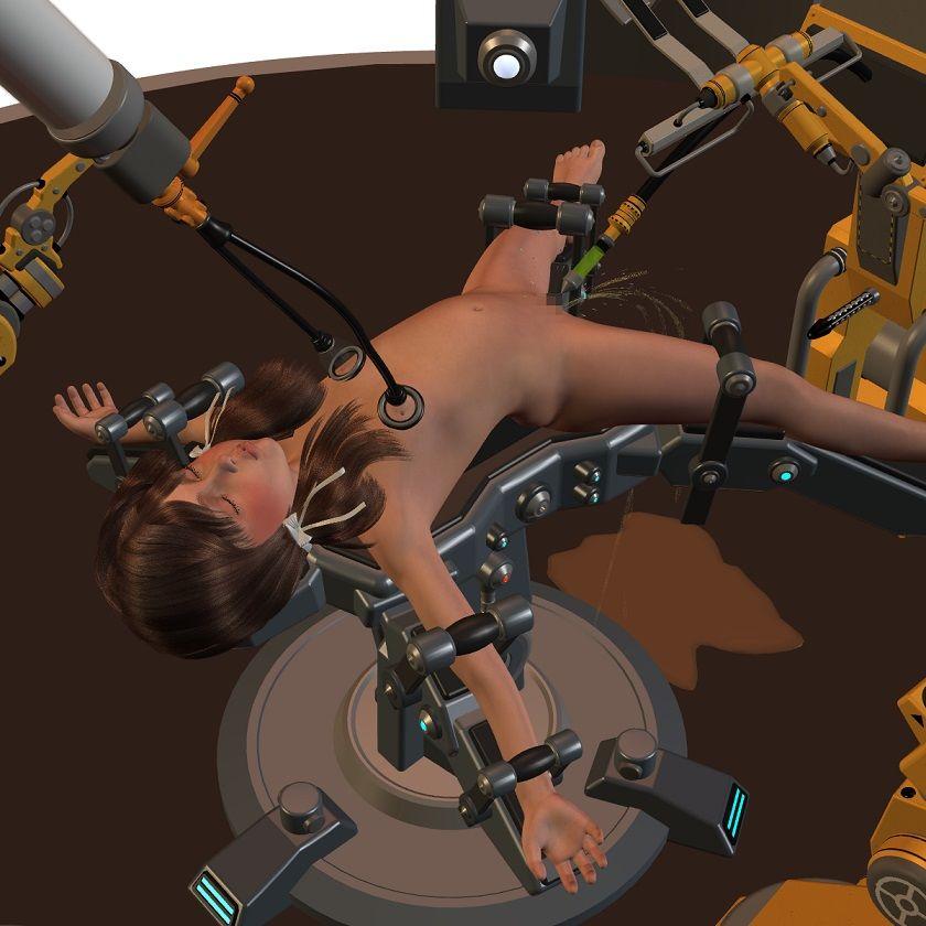 【処女 奴隷】ロリ系な微乳の処女ロボット令嬢アイドルの奴隷企画拷問バック触手浣腸飲尿調教オナニーの同人エロ漫画。