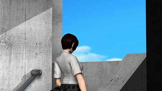 人通りの無い校舎の裏で新人体育教師と不純異性交遊に及んでいる激ミニちゃんに遭遇!スカート内に頭を...のサンプル画像2