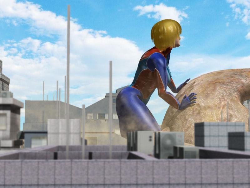 ウルトラレオタード01 巨大ヒロインリョナレ〇プ エロ画像