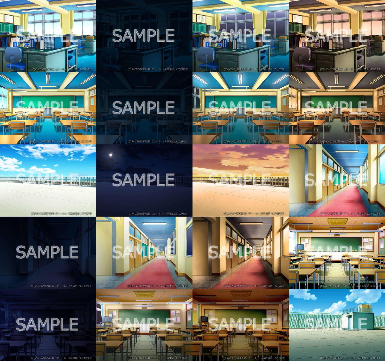 みにくる背景CG素材集『学園編』part01&03+α エロ画像