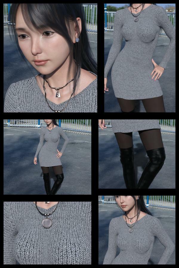 【Dars-All】『理想の彼女を3DCGで作ります』から生まれたバーチャルアイドル「里見花奈(さとみはな)」の写真集:Hana-01 エロ画像