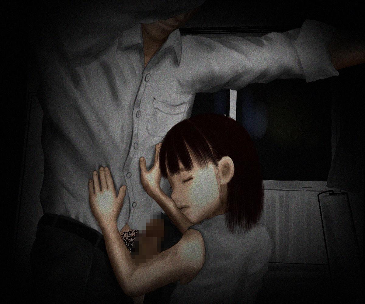 女の子が薄暗い部屋で何かされていますが・・・ エロ画像