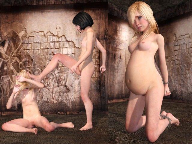 [同人]「少女が少女を虐待するだけの写真集(テキスト・妊婦版付き)」(ポザ孕)