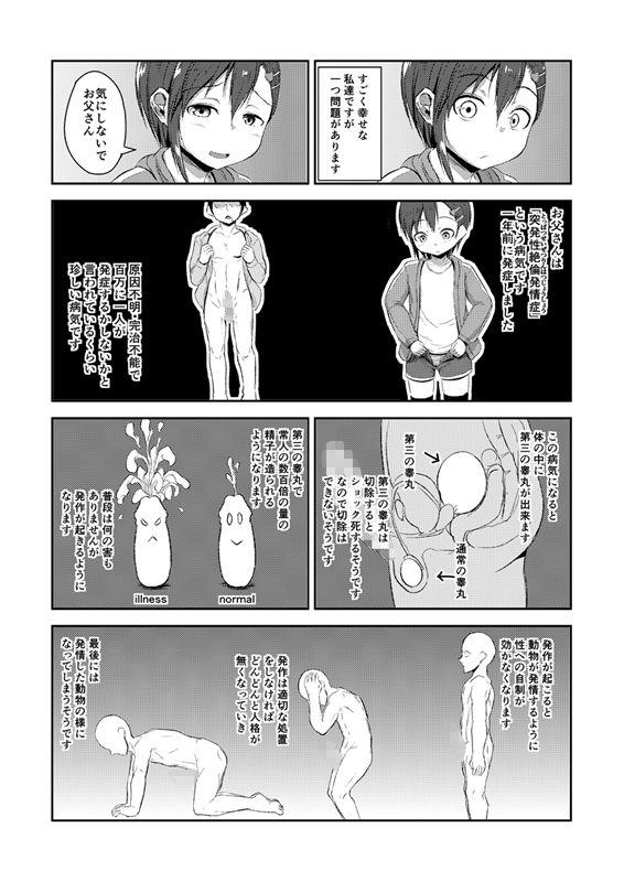 ロリ系なつるぺたの女の近親相姦ぶっかけアナル中出しの同人エロ漫画!!