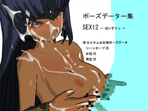 【オリジナル同人】ポーズデーター集 SEX12 ~ ぱいずりっ ~