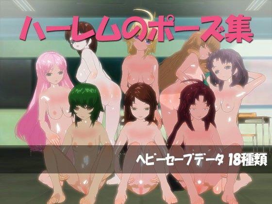 【オリジナル同人】ハーレムのポーズデータ集[3Dカスタム少女]