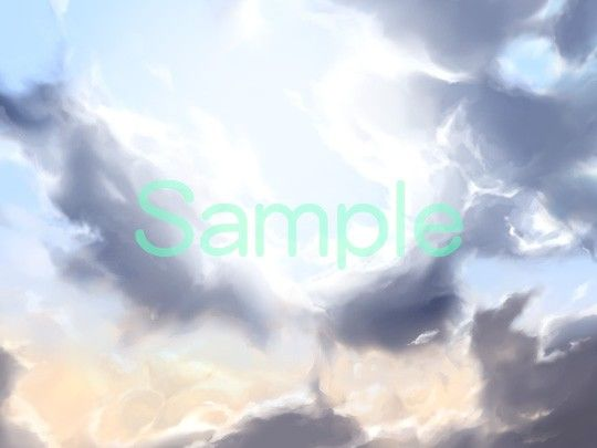 むらくも著作権フリー背景CG素材集 05『空』