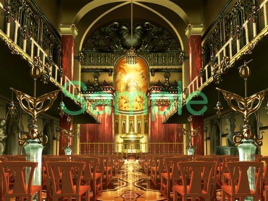 むらくも著作権フリー背景CG素材集 11『大聖堂』