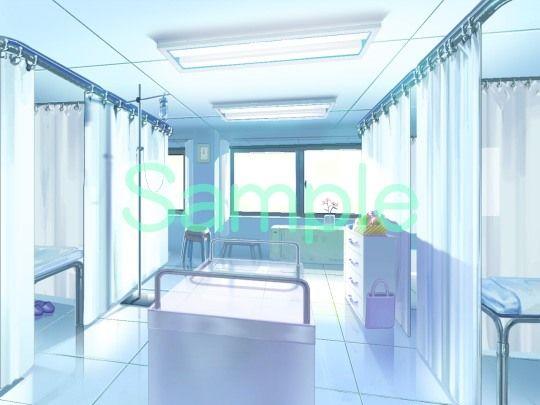 むらくも著作権フリー背景CG素材集 12『病院1』