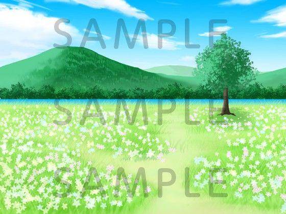 [同人]「著作権フリーゲーム用背景素材「花畑」」(TRIPLE CROSS)