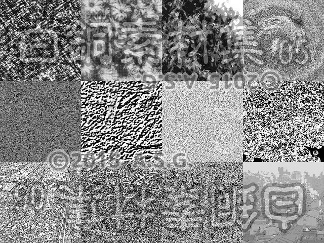 白銅素材集 05 『白黒斑模様っぽい何か』