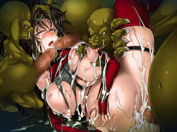【二次】女忍者アズサvsオーク 〜絶頂!異種姦バトル!〜のエロ画像まとめのエロ画像やエッチシーンを紹介中:エロゲ画像専門
