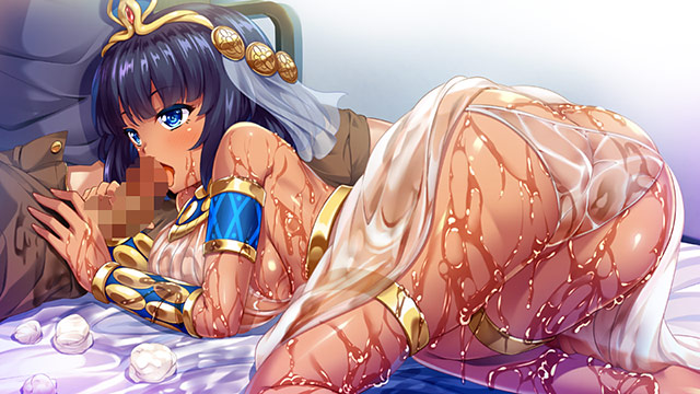 【二次エロ】クレオパトラがやってきた!? 〜現代に降臨した古代女王と濡れ透け性生活〜のエロ画像