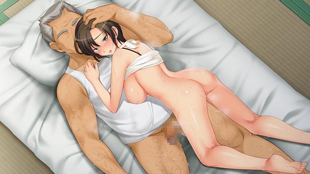 妻の媚肉を弄る父の太い指1