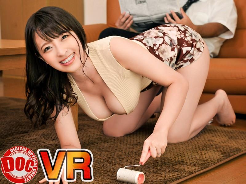 【VR】「えっ見せつけてる!?」誘惑してくる巨乳兄嫁!!巨乳すぎる美人な兄嫁は新婚なのにセックスレ...のサンプル画像7