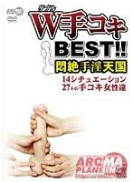 「W手コキBEST!! 悶絶手淫天国」のパッケージ画像