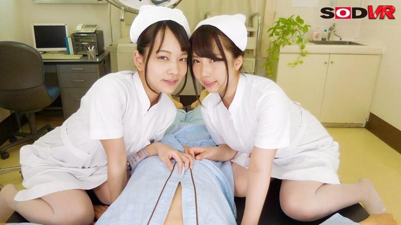 【エロVR】性欲旺盛なエロカワナースが患者を夜這い→淫語責め&Wフェラでたっぷりご奉仕