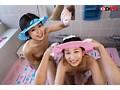 【VR】【HQ超高画質】愛娘達と一緒のお風呂中にわいせつVR 妹 るるちゃん 148cm 姉 ゆりちゃん 155cm 画像5