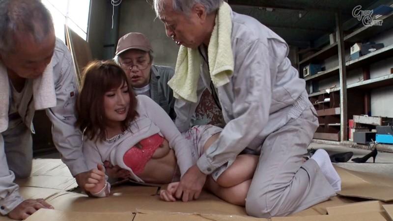 老働者に輪姦され性奴隷と化す巨乳未亡人 水谷心音 の画像13