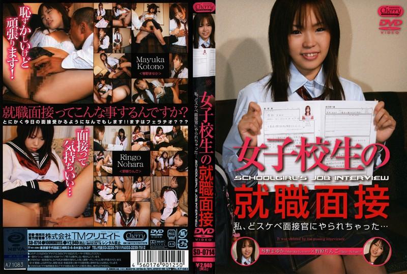 女子校生の就職面接