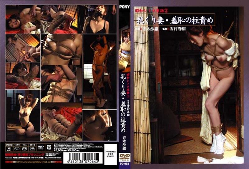 浴衣の人妻、青木沙羅出演の拘束無料熟女動画像。昭和レトロ夜話 3 乳くり妻・羞恥の柱責め 青木沙羅