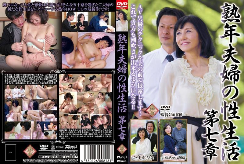 五十路の夫婦、宮本まり出演の騎乗位無料熟女動画像。熟年夫婦の性生活 第七章