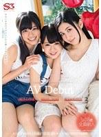 「夏目このは 一の瀬のの せいの彩葉 AV Debut S級美少女が3人同時にAVデビュー」のパッケージ画像