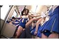 ムレムレチアガールバス チアブル湿度数200%… 運動直後のムレた女子大生満員バスでチラリズムに導かれて強制発射! 9