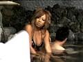 混浴露天風呂に入っている美形ギャルカップルの彼氏の死角に座り勃起チ○ポを見せつける!!いきり立つ股間に気づいたギャルは彼氏との会話中もチ○ポから目が離せない。 7
