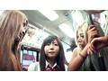 バス通学の色白女子校生を狙う 黒ギャル・ペニバン・イカセレズ サンプル画像8