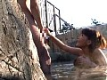 温泉旅館で偶然出会った巨乳のお嬢さん! 風呂桶ひとつで初めての男湯!! サンプル画像 No.2