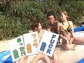 水着を奪い取れば勝利!! 真夏のド素人ローション相撲 負けたら浜辺でスケベな罰ゲーム! 6