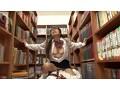 放課後に何もすることがないので学校の図書室に行ってみたら、本の整理を行う清楚なマジメ図書委員女子の無防備な純白パンチラを見てしまった! 目をそらそうと思ってもパンツに釘付けなボクは、思わず勃起…。 17