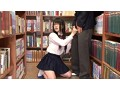 放課後に何もすることがないので学校の図書室に行ってみたら、本の整理を行う清楚なマジメ図書委員女子の無防備な純白パンチラを見てしまった! 目をそらそうと思ってもパンツに釘付けなボクは、思わず勃起…。 8