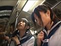 いつも一緒の女子校生2人組を同時痴漢でみせつけて感じさせろ!! 12
